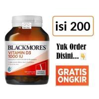 Blackmores Vitamin D3 D-3 1000IU 1000 IU 200 Kapsul Bone Health Vit D3
