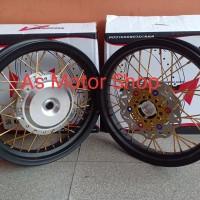sepaket velg rossi 185 -215 -14 tromol jari2 motor matic honda yamaha