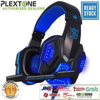 PLEXTONE PC780 Gaming Headset LED Lights Music Headphone With Mic PUBG - Hitam Biru