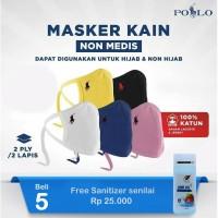 ORIGINAL POLO Masker Non Medis 2 Ply - MASKER KAIN Warna Acak