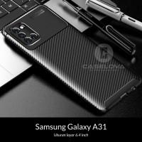 Case Samsung Galaxy A31 Synthetic Fiber Protective Carbon