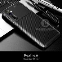 Case REALME 6 Synthetic Fiber Protective Carbon
