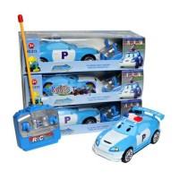 Mainan Anak Mobil Remote Control Robocar Poli Mobil RC Lampu Nyala