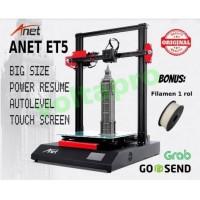 New Printer 3D ANET ET5 Mencetak Lebih Besar Autolevel Touch Screen