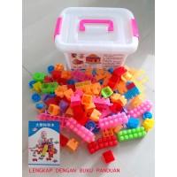 MAINAN ANAK MAINAN EDUKASI LEGO BLOK ISI 110PCS
