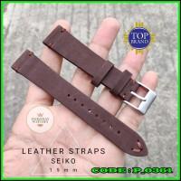 Strap Tali Jam Tangan Kulit Seiko 19mm Brown Limited Edition