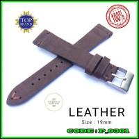 Leather Strap Watch 19mm Tali Jam Tangan Kulit Asli Brown PH19