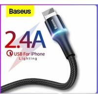 Baseus Cable Data iphone Lightning Kabel Halo LED 2.4A - 50cm