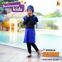 Swimwear Karina by Rocella | Baju Renang Anak | Setelan Muslimah Anak - Electric Blue, XS