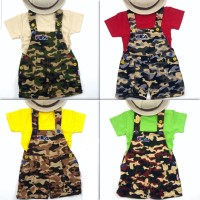 Baju Overall Baju Kodok Anak Bayi Laki laki dan Perempuan Army