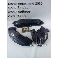 cover tutup paket knalpot - hawa - radiator nmax new 2020 nemo carbon