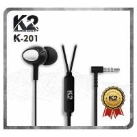 [GROSIR] HANDSFREE / HEADSET K2 PREMIUM QUALITY K-201 Bass Stereo