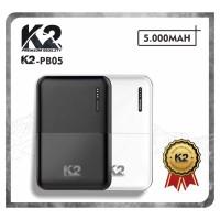 [GROSIR] Powerbank K2-PB05 K2 PREMIUM QUALITY 5000Mah SLIM SMALLEST