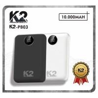 [GROSIR] Powerbank K2-PB03 LED DIGITAL 10000MAH K2 PREMIUM QUALITY 2A