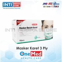 ONEMED - Masker 3 Ply Earloop Medis / Surgical Mask (Kemasan Steril)