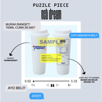 [PREORDER DESIGN NCT DREAM PUZZLE PIECE] REUSABLE CUP TWITTER @RYUCUPS
