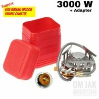 Kompor Lipat ultralight komor gas mini kompor camping 3000W + adapter