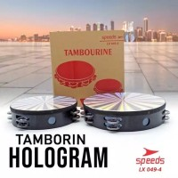 Tamborin hologram 8 inch 10 inchi/ kecrekan tambourine 049-4