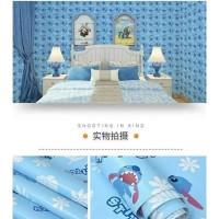 Wallpaper sticker dinding motif karakter anak stitch/stic 10m x 45cm