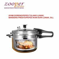Panci Presto Ayam Tulang Lunak dan Bandeng Duri Lunak ZOOPER 8 Liter