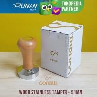 Coffee Tamper 51mm Tamper Kopi Kayu 51 mm Kayu Wooden Tamper Conalli