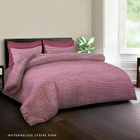 7STAR by King Rabbit Bed Cover Single 140x230 cm Motif Strip Pink