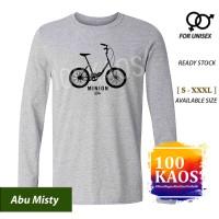 Kaos Distro Sepeda Minion Bike Lengan Panjang S / M / L / XL / XXL