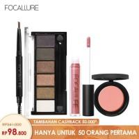 FOCALLURE Bundle Eyeshadow Eyebrow Brush Pen Lipstik Blush On