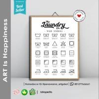 Laundry | Hiasan Pajangan Dinding Poster | Kayu | Wall Decor