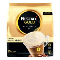Nescafe Gold 3 in 1 Instant Coffee Flat White 15 x 20g