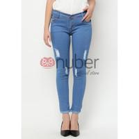 Celana Panjang Jeans Pensil Blue Retro Stretch Nuber - Daffodils