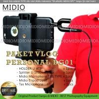 Paket Vlog Midio Personal BG01 Vloger Vlogging dan Livestreaming
