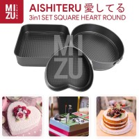 AISHITERU 3in1 SET Loyang Kue Love Heart Bongkar Pasang Spring Baking