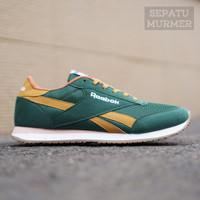Sepatu Sneakers Kets Casual Sport Pria Murah Reeb0k Classic Trainer - Green Barrets, 39