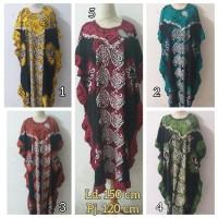 Daster/Longdress Kelelawar Batik Cap Warna Hitam Kombinasi