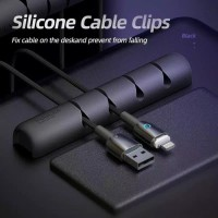 Cable Organizer 7 Slot Clip Jepitan Kabel cable organise Clip Silicon