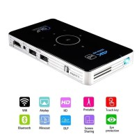 C6 DLP PROJECTOR 2/16GB MINI SMART PROJECTOR ANDROID 6 S905X 4CORE