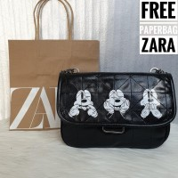 Tas Selempang Rantai Zara Mickey Mouse Fashion Import JS0767KZ