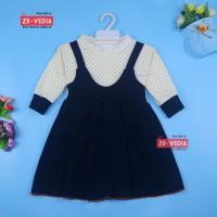 Dress Kiki size 3-4 Tahun / Dres Anak Perempuan Overall Baju Gaun