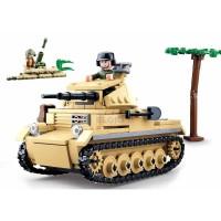Lego Sluban Army WW II Panzer 2 M38 B0691 / Tank Coklat