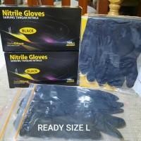 Sarung Tangan Karet/Medis SAFEGLOVE Nitrile Examination Gloves 1Pasang