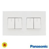 Panasonic Saklar 4G WESJ5931 + WESJ78049 Style Series 4 Gang Putih