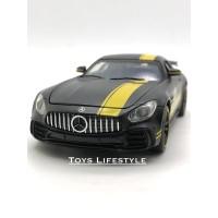Miniauto Diecast - Mercedes Benz AMG GTR Skala 1:32 (Garis Kuning)