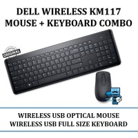 Dell KM117 Wireless Keyboard Mouse Combo Original
