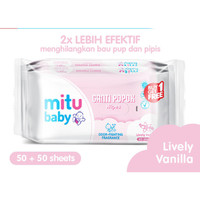 Mitu Baby Ganti Popok Wipes Lively Vanilla (50 Sheet) Buy One Get One
