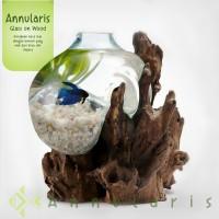 Aquarium mini / Vas Bunga Kaca / Aquascape Unik Size 21 - 25 cm