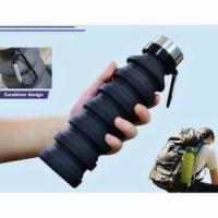 Botol Minum Lipat Portable Bahan Silikon - 550 ml
