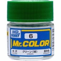 Mr Color C6 Green - Mr Hobby Gundam Model Kit Airbrush Paint Cat C 6