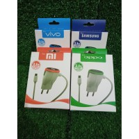 travel charger casan charger crome LED 2,1A VIVO , SAMSUNG