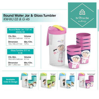 Teko Gelas 7 in 1 Motif Profesi Set Round Water Jar & Glass Plastik